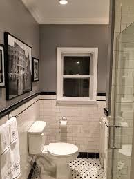 Subway Tile Bathroom Floor Ideas by 1920s Bathroom Remodel Subway Tile Penny Tile Floor Kunz