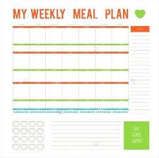 printable blank meal planner printable blank printable weekly menu planner template illustration