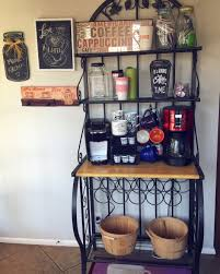 Mini Bakers Rack Bakers Rack Coffee Bar Idea Around The House Pinterest