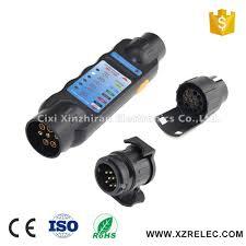 12v 7 pin 13 pin plug u0026 socket trailer cable wiring tester 3