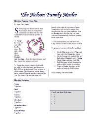 employee newsletter office templates