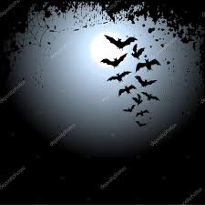 halloween background with moon and bats u2014 stock vector lakalla