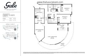 the gale floor plan condos for sale at gale hotel residences