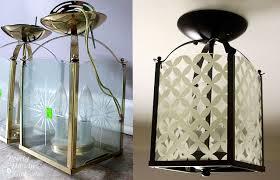 Spray Painting Brass Light Fixtures Circle Pattern Light Fixture Updating A Brass Light