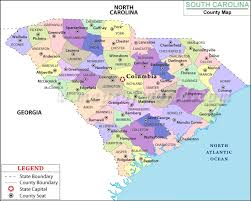 map of south carolina state map of united states