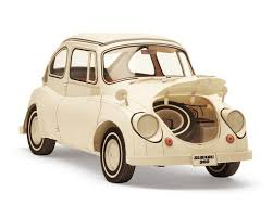 subaru 360 car amazon com subaru 360 paper craft 1 12 scale with transparent