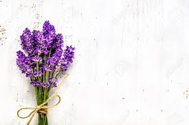 lavender bouquet summer flowers of lavender bouquet on white wooden background