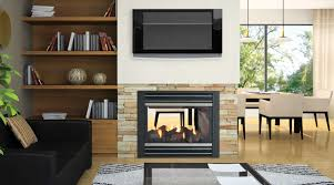 Interior Gas Fireplace Entertainment Center - regency panorama p121 two sided gas fireplace leisure world wv
