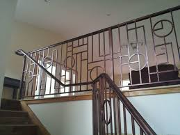 custom ornamental iron deco balcony rail with grab rail attachment