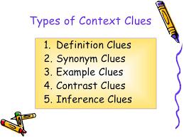 building vocabulary using context clues