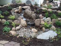 Waterfall In Backyard Backyard Waterfall Low Maintenance Water Feature Just Add Water