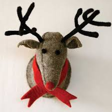 felted wool reindeer wall decor a cottage in the city