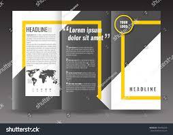 corporate trifold brochure template design world stock vector