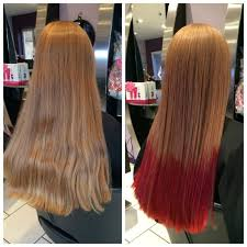 Washing Hair After Coloring Red - before and after colour and style photos oasis hair nantwich