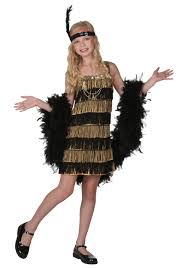 pretty halloween costumes for kids child gold and black fringe flapper costume flappers costumes