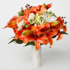 bouquet of lilies orange tiger mango calla lilies tiger lilies real