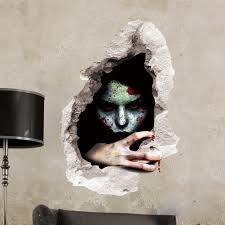 removable halloween 3d horror ghost wall sticker holiday scary