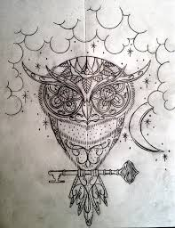 owl tattoo simple sugar owl tattoo design picture 1 ink pinterest owl tattoo