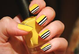 nail art 2 yellow u0026 black and white youtube