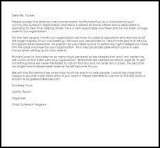 volunteer recommendation letter recommendation letters livecareer