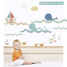 a whale of a time fabric wall stickers by littleprints a whale of a time fabric wall stickers