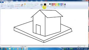 how to draw 3d shape house in pc youtube