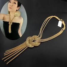 metal necklace designs images Vogue ladies women metal long tassel chain necklace pendant jpg