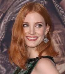 jessica chastain u0027s shoulder length bob hairstyle