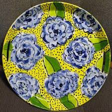 painted platters platters and chatter carol king drawing painting complaining
