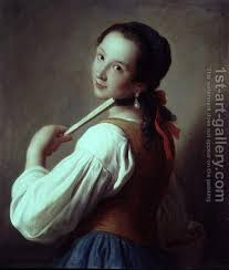 girl with the pearl earring painting girl wearing a pearl earring pietro antonio rotari