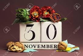 november seasonal flowers save the date seasonal individual calendar for november 30 with