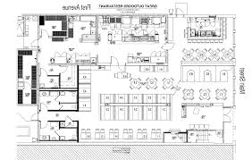 draw kitchen floor plan gorgeous restaurant open kitchen floor plan plans image of
