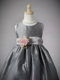silver flower dresses cheap gown4style