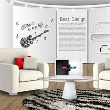 music wall decor music is my life guitar pattern vinyl decal sticker wall decals