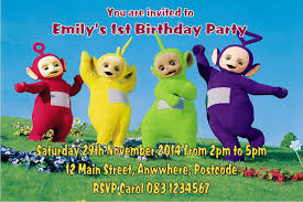 personalised teletubbies invitations