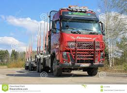 trailer volvo volvo truck and wood trailer editorial stock photo image 31270668