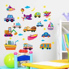 How To Decorate Nursery Classroom Car Wall Stickers Baby Room Nursery Classroom Backdrop