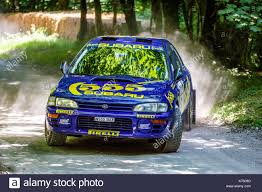 2017 rally subaru 1996 subaru impreza 555 rally car on the forest stage with driver