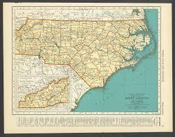 Raleigh Nc Map Vintage Map North Carolina From 1937 Original