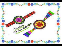 rakhi coloring pages learn to draw colourful rakhi for kids drawing and colouring