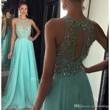 blue graduation dresses blue chiffon beaded prom dresses a line crystals evening