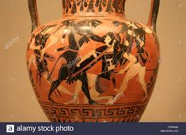 Greek Vase Images Ancient Greek Vase Paintings In Black Over Red Ceramic Isolated