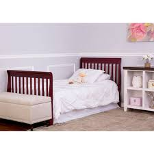 Bed Rails At Walmart Dream On Me Aden 4 In 1 Convertible Mini Crib Espresso Walmart Com