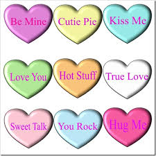 conversation heart sayings 7 best images of printable conversation heart sayings