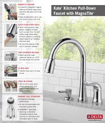 Single Handle Kitchen Faucets by Delta Kate Single Handle Pull Down Sprayer Kitchen Faucet With