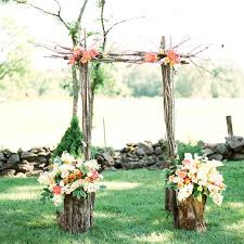 wedding arches made of branches simple ceremony arch made of tree branches and fresh blooms