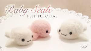 making baby seals with needle felt easy kawaii craft tutorial