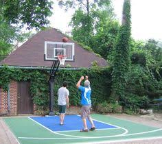Half Court Basketball Dimensions For A Backyard green on rust half court basketball courts pinterest