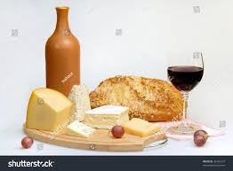 wine bottle cheese plate glass wine bottle cheese plate stock photo 36491227