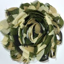 camo flowers 2 5 green camo shabby flowers ribbons supplies